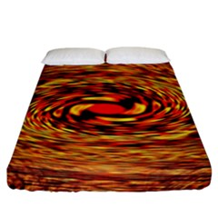 Orange Seamless Psychedelic Pattern Fitted Sheet (king Size)