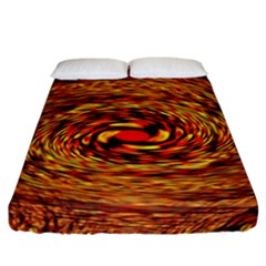 Orange Seamless Psychedelic Pattern Fitted Sheet (california King Size)