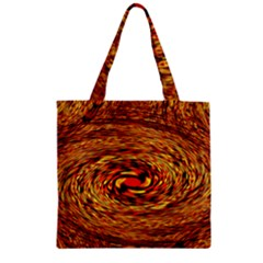 Orange Seamless Psychedelic Pattern Zipper Grocery Tote Bag