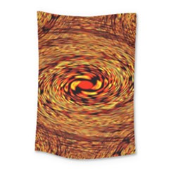Orange Seamless Psychedelic Pattern Small Tapestry by Amaryn4rt