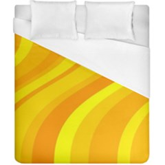 Orange Yellow Background Duvet Cover (california King Size)