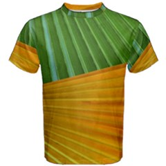 Pattern Colorful Palm Leaves Men s Cotton Tee