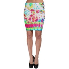 Pattern Decorated Schoolbus Tie Dye Bodycon Skirt by Amaryn4rt