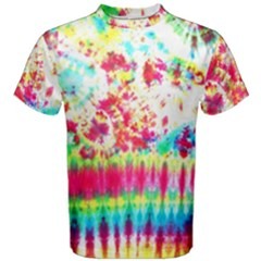 Pattern Decorated Schoolbus Tie Dye Men s Cotton Tee by Amaryn4rt