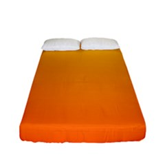 Rainbow Yellow Orange Background Fitted Sheet (full/ Double Size) by Amaryn4rt