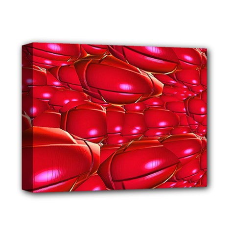 Red Abstract Cherry Balls Pattern Deluxe Canvas 14  X 11