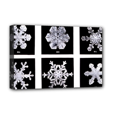 Snowflakes Exemplifies Emergence In A Physical System Deluxe Canvas 18  X 12