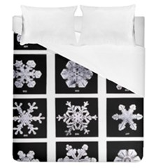 Snowflakes Exemplifies Emergence In A Physical System Duvet Cover (queen Size)