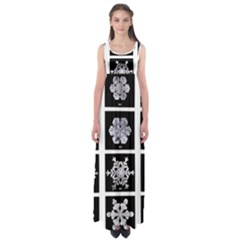 Snowflakes Exemplifies Emergence In A Physical System Empire Waist Maxi Dress