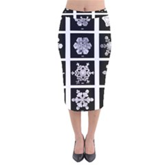 Snowflakes Exemplifies Emergence In A Physical System Velvet Midi Pencil Skirt