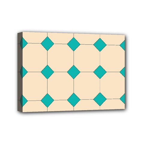 Tile Pattern Wallpaper Background Mini Canvas 7  X 5  by Amaryn4rt