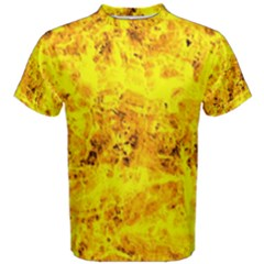 Yellow Abstract Background Men s Cotton Tee