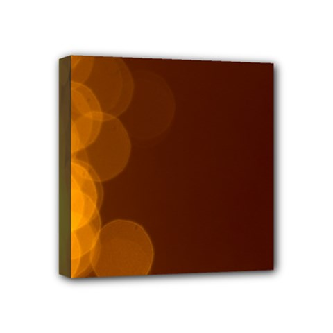 Yellow And Orange Blurred Lights Orange Gerberas Yellow Bokeh Background Mini Canvas 4  X 4  by Amaryn4rt