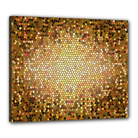 Yellow And Black Stained Glass Effect Canvas 24  X 20  by Amaryn4rt