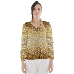 Yellow And Black Stained Glass Effect Wind Breaker (women)