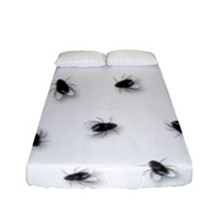 Flies Fitted Sheet (full/ Double Size) by Valentinaart