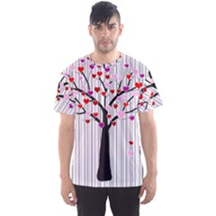 Valentine s Day Tree Men s Sport Mesh Tee