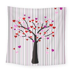 Valentine s Day Tree Square Tapestry (large) by Valentinaart