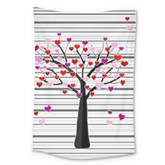 Love Tree Large Tapestry by Valentinaart