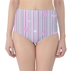 Pink Love High Waist Bikini Bottoms