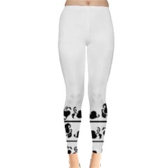 Simple Black And White Design Leggings  by Valentinaart