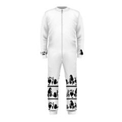 Simple Black And White Design Onepiece Jumpsuit (kids) by Valentinaart