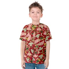Pizza Pattern Kids  Cotton Tee