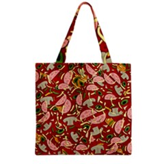 Pizza Pattern Grocery Tote Bag by Valentinaart