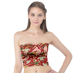 Pizza Pattern Tube Top by Valentinaart