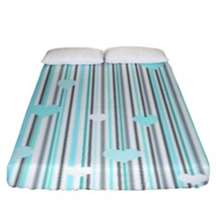 Cyan Love Fitted Sheet (king Size) by Valentinaart