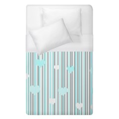 Cyan Love Duvet Cover (single Size) by Valentinaart
