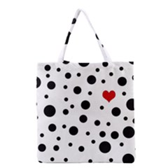 Dots And Hart Grocery Tote Bag by Valentinaart