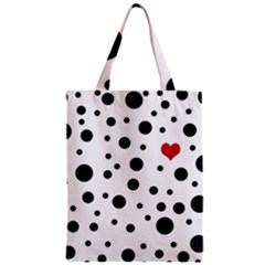 Dots And Hart Zipper Classic Tote Bag