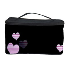Pink Harts Design Cosmetic Storage Case by Valentinaart