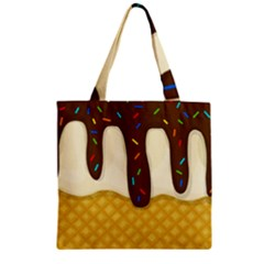 Ice Cream Zoom Zipper Grocery Tote Bag