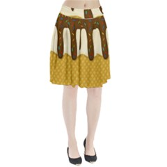 Ice Cream Zoom Pleated Skirt by Valentinaart