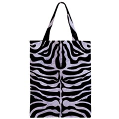 Skin2 Black Marble & White Marble Zipper Classic Tote Bag by trendistuff