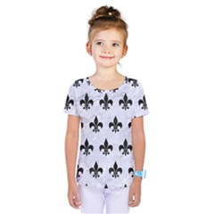 Royal1 Black Marble & White Marble Kids  One Piece Tee
