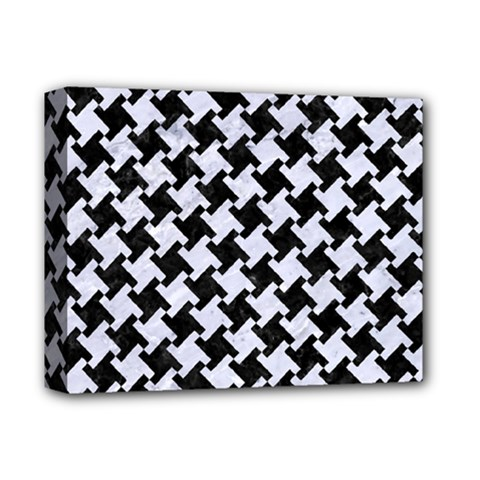Houndstooth2 Black Marble & White Marble Deluxe Canvas 14  X 11  (stretched) by trendistuff