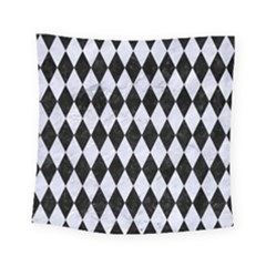 Diamond1 Black Marble & White Marble Square Tapestry (small) by trendistuff