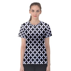 Circles3 Black Marble & White Marble Women s Sport Mesh Tee by trendistuff