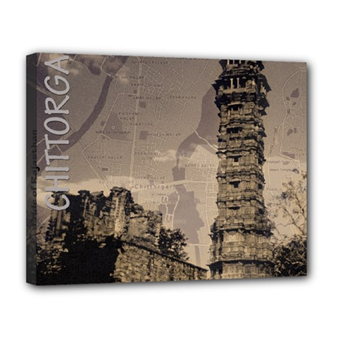 Chittorgarh Canvas 14  X 11  by fatfatiya