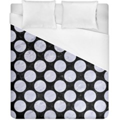 Circles2 Black Marble & White Marble Duvet Cover (california King Size) by trendistuff