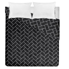 Brick2 Black Marble & White Marble Duvet Cover Double Side (queen Size)