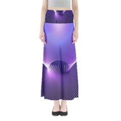 Space Galaxy Purple Blue Line Maxi Skirts