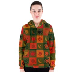 Space Month Saturnus Planet Star Hole Black White Multicolour Orange Women s Zipper Hoodie by AnjaniArt