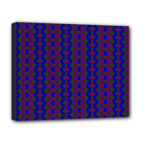 Split Diamond Blue Purple Woven Fabric Deluxe Canvas 20  X 16