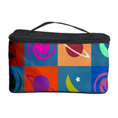 Space Month Saturnus Planet Star Hole Multicolor Cosmetic Storage Case