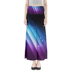 Space Purple Blue Maxi Skirts