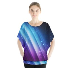 Space Purple Blue Blouse